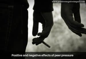 Positive and negative effects of peer pressure