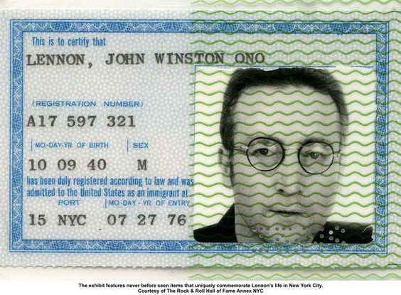 John Lennon's green card