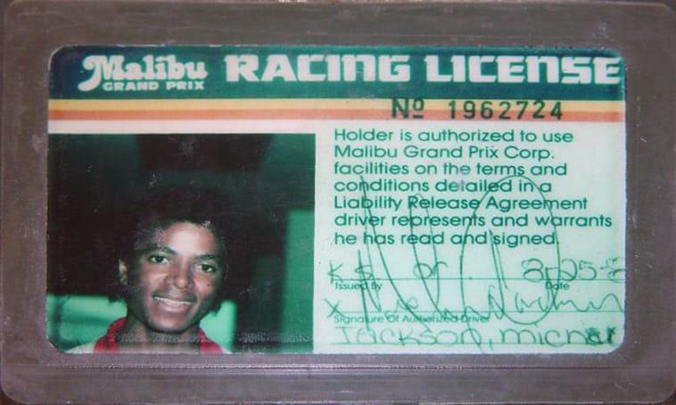 Michael Jackson's Grand Prix License