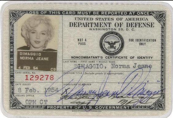 Marilyn Monroe's ID