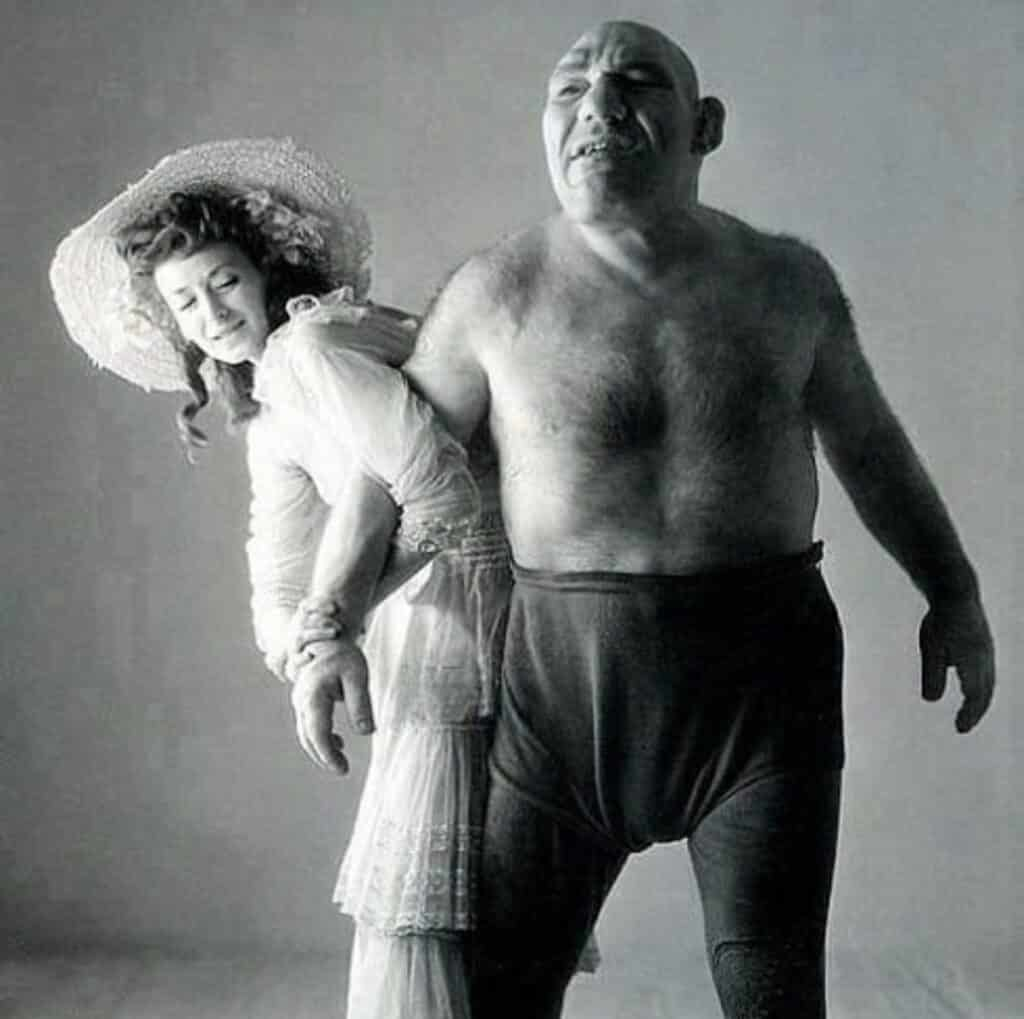 Maurice Tillet and his Wife